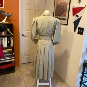 Vintage tan long trench coat